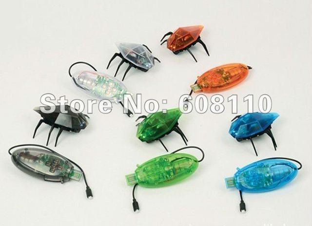 Free shipping Latest mini RC deskpet Skitterbot,RC coleoptera,rc mini robot runing fast and LED eye