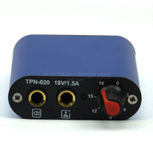 1 pc - Mini Tattoo Power Supply (TPN-020) / Blue / Alloy Casing - Regulator for Permanent Tattoo machine / Gun - Free Shipping