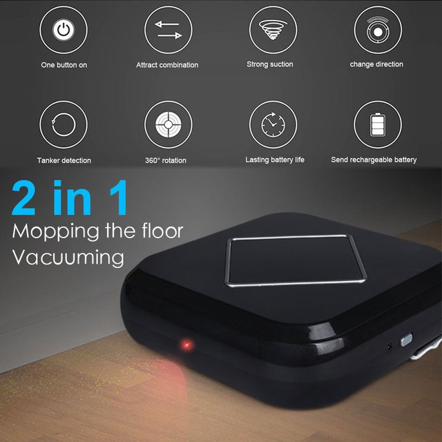 2019 Drop Shpping 2in1 Auto Sweeping Robot Smart Vacuum Cleaner Rechargeable Floor Cleaner Auto Cleaning Robot for Mopping