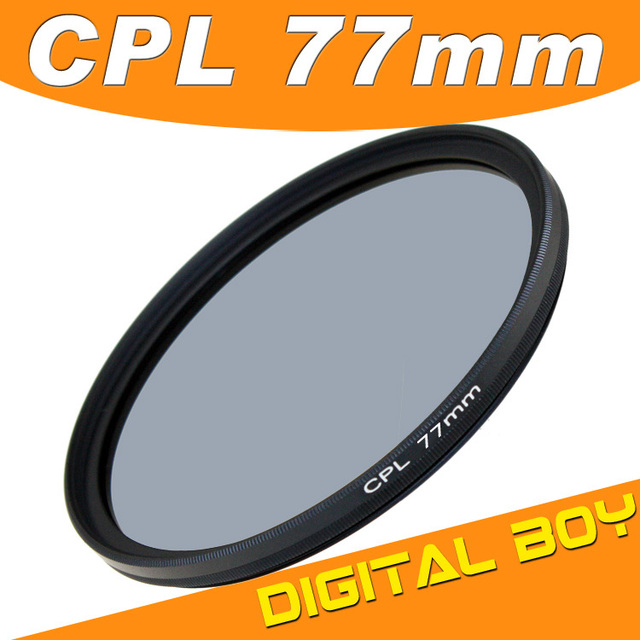 Digital Boy 1PC Lens filter 77mm Circular Polarizing CPL C PL Filter  77mm For Canon Nikon 24-70 24-105 70-200 freeshipping z1