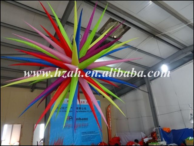 Party Decoration Inflatable Star/3D Inflatable Star Ceiling Hanging Decorations