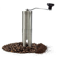 Most Consistent Hand Coffee Grinder & Coffee Press - Ceramic Burr Manual Coffee Grinder fits in for Aeropress