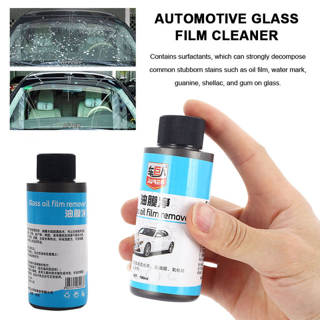 Vehemo Front Windshield Cars Oil Film Remover Rearview Mirror Glass Decontamination Oil Film Cleaner Practical Universal Care