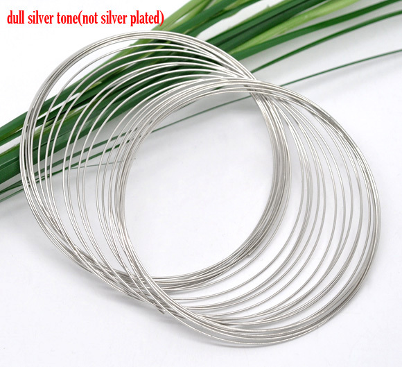 Doreen Box 200 Loops Memory Beading Wire for Bracelet 65mm Dia. (B11248)