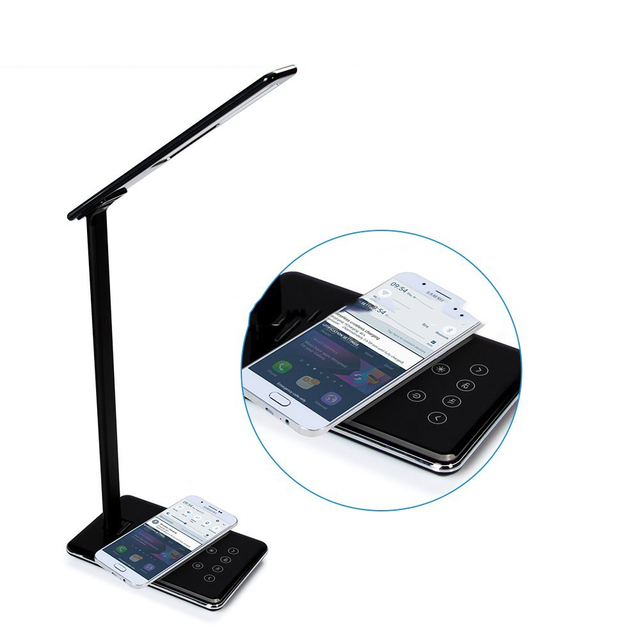 696 WD102 Desktop lamp Qi Wireless Charger Phone Charger Adapter for iPhone X 8 Samsung Galaxy S8