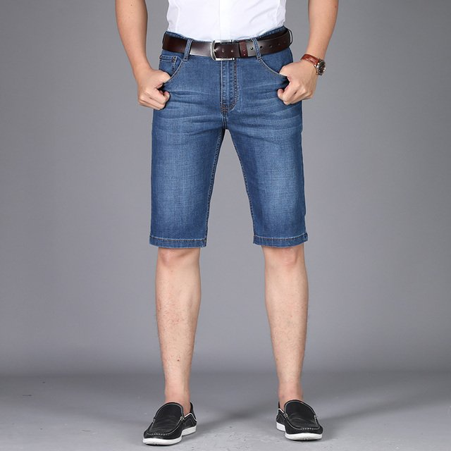 AFS JEEP Fashion Summer Men Jeans Casual Cotton Denim Shorts Solid Embroidery Men Short Jeans For Youth Brand Clothing 8026