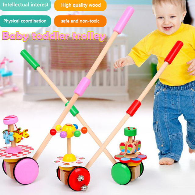 Interesting Toy for adults Durable Prank Safe Material Ring Bell Multicolor Wooden Wooden Trolley Toys Wooden Product