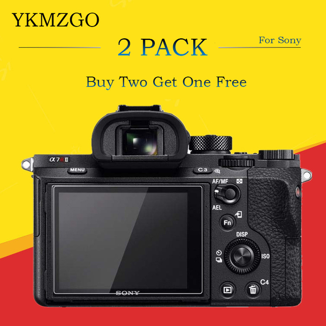 2 Pack 9H Tempered Glass LCD Screen Protector for Sony NEX-7 NEX-3N NEX-5N NEX-6 A3000 / DSC-HX50 HX50 DSC-HX60V HX60V / A77 A99