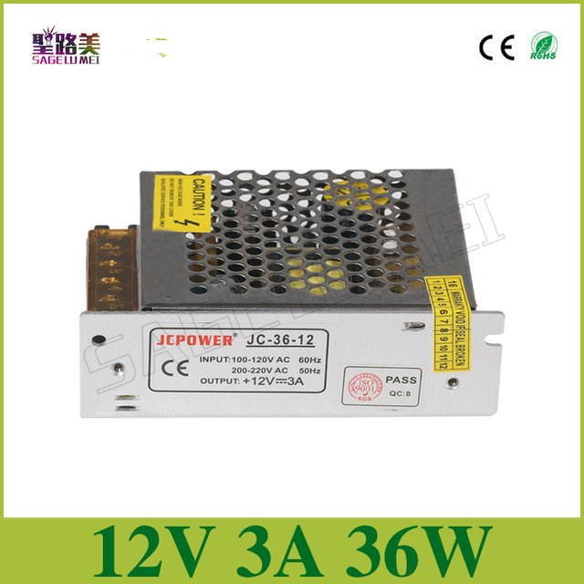 best price Regulated Power Supply,output DC12V 3A 36W input AC 110-240V Switching power supply for led strip led lamp