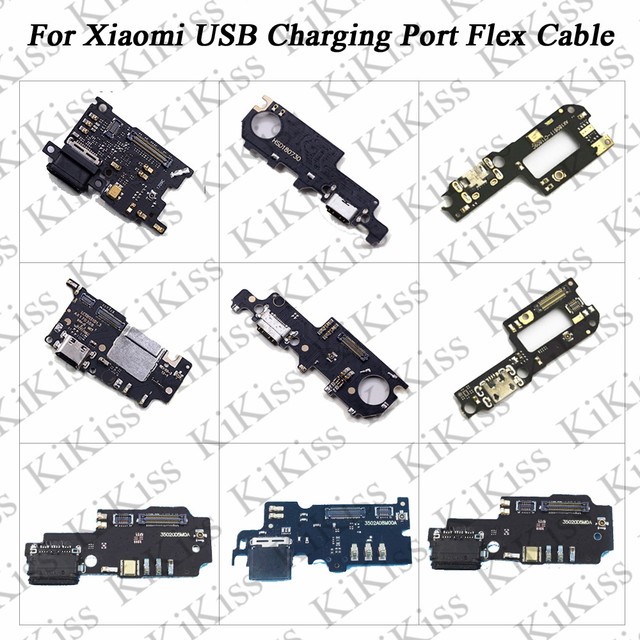 KiKiss USB Port Charger Dock Plug Connector Flex Cable For Xiaomi 5S Plus 5X MAX 3 Mix 2/2S Redmi 6 Pro 5 S2 Charging Port Board