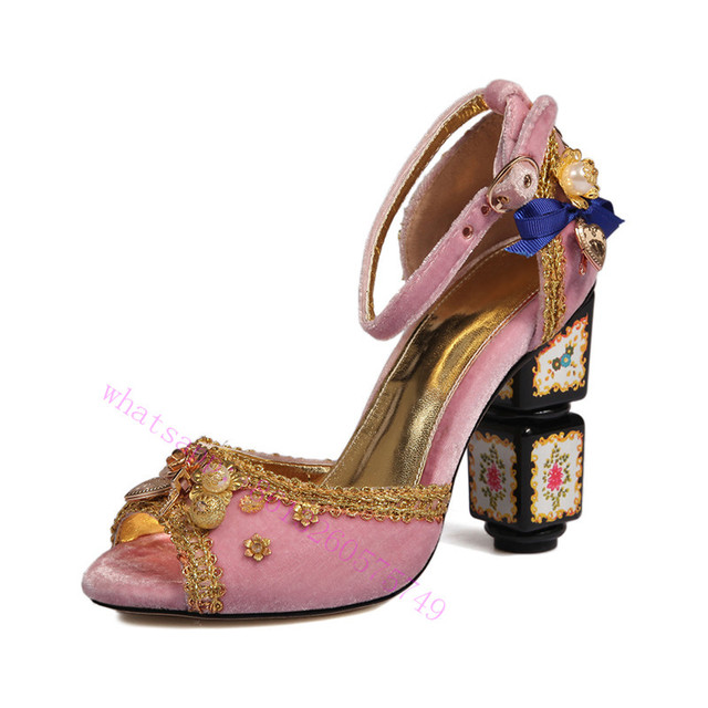 Choudory Luxury fashion Designer Spring crystal gladiator sandals women shoes with flower jewelry Toe high hells shoes women