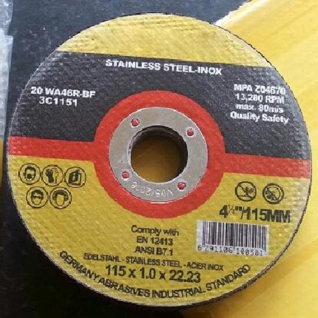 """4.5""""x1 mmx7/8"""" Metal disc cutter , 115x1x22.23mm, 10PCS/LOT,  Abrasive tools for cutting rebar,iron,and steel."""
