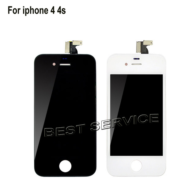 For iPhone 4 4G 4s LCD Screen Display with Touch Screen Digitizer assembly Black White no dead pixel