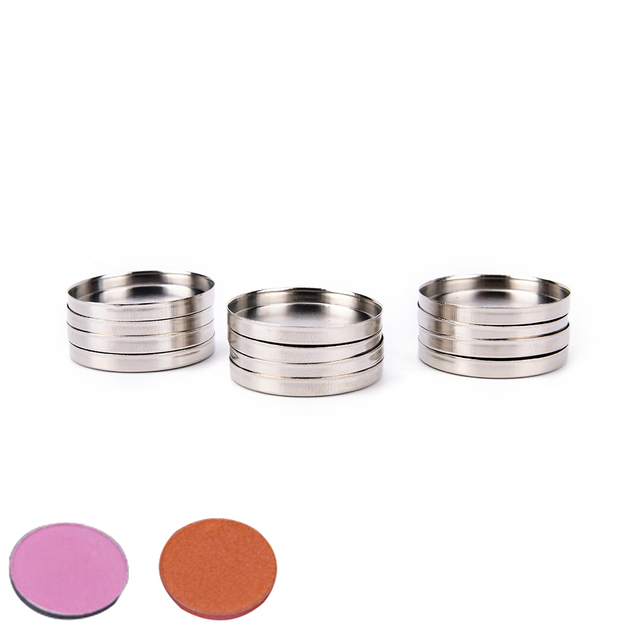 12pcs 26mm Makeup Cosmetic Empty Aluminum Cases Pans For Eyeshadow Eye Shadow Container Pans Palette Case DIY Makeup Tool