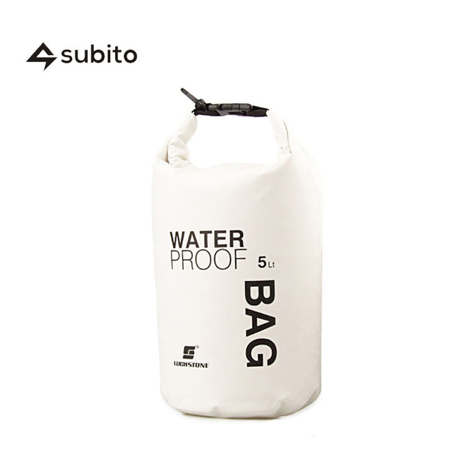 SUBITO Dry Bag 5L Camping High Quality Waterproof Bags Compress Sport Bag Dry Sack Compress Ultralight  Camping Hiking Dry Bags