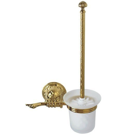 FREE SHIPPING new design 24k GOLD toilet brush holder with flowers