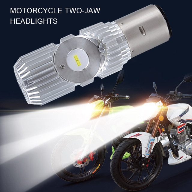 Vehemo White Light LED Headlight High Low Beam Front Lamp LED Light High Power Super Bright Motorcycle Parts 6000K