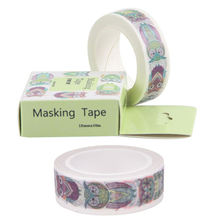 1.5cm Wide owl washi tape DIY decoration scrapbooking masking tape adhesive tape label sticker stationery School Office Supply