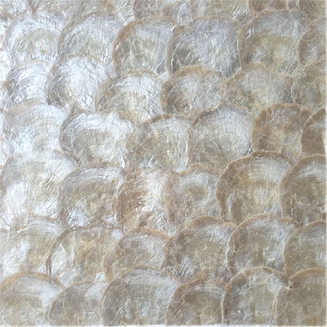 Seamless Yellow capiz lip Mother of Pearl  Natural White brown shell mosaic tiles kitchen backsplash mosaic  wall tile