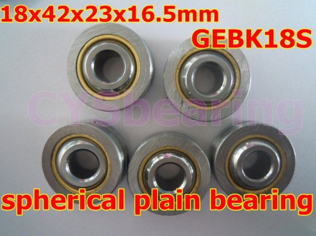 GEBK18S PB-18 radial shaft spherical plain bearing with self-lubrication