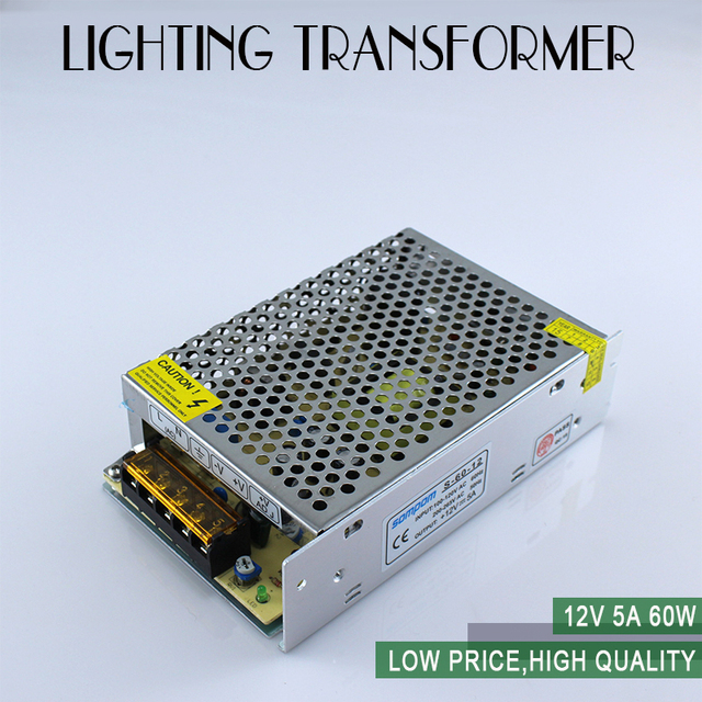 Singel output dc12V 5A 60W AC85V-265V Switching Power Supply High quality LED driver for LED strip 3528 5050 power supply