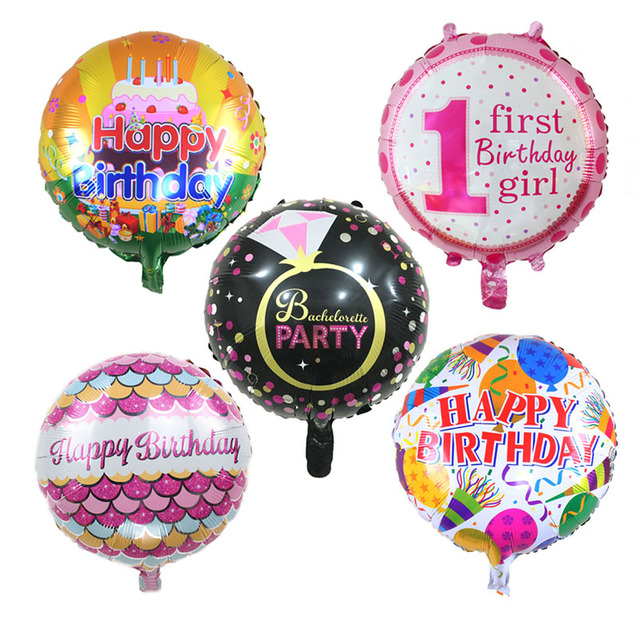 18 inches Happy Birthday Foil Balloons Children Birthday Inflatable Fruit Pineapple Toys Ballons Helium Balloon Party Decoration