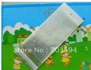 1000pcs/lot clear Jewelry Bag in size 5x14cm for Necklace packing with self adhesive seal