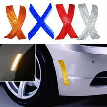 Car-Bumper-Reflective-Warning-Strip-Decal-Stickers-Auto-Accessory-14.5-2-3cm безопасности и выживания Z0727