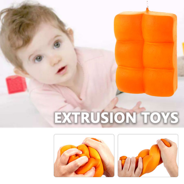 Cheap squishy Squishi baratos Fashion Antistress toys Decor Stress Reduction Abdominal Shaped Ab Kid Bread Toy for Children Gift