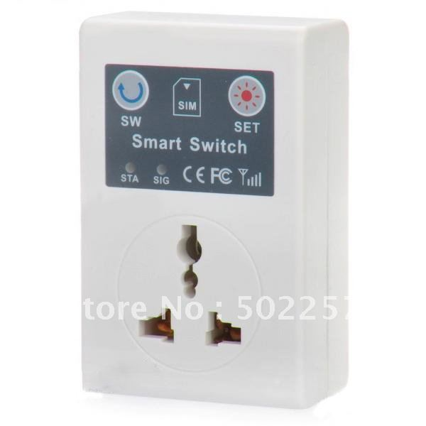 free shipping!GSM Cell Phone Remote Control Power Switch w/ Universal Socket (AC 220V / 3-Flat-Pin Plug)