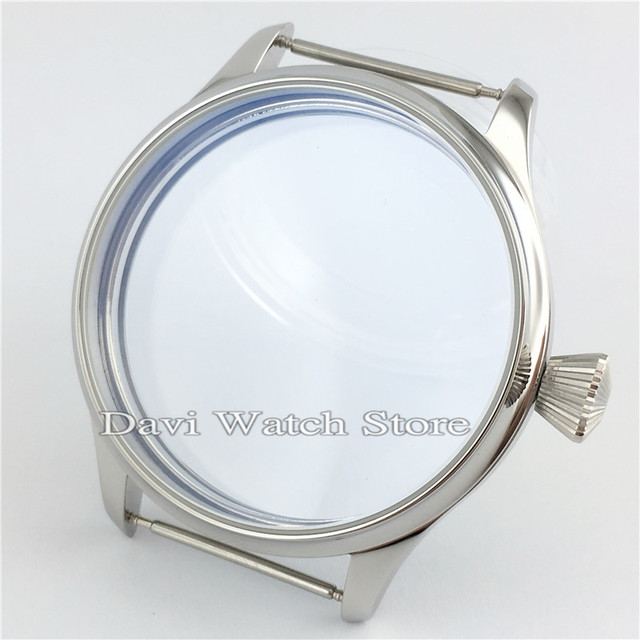 ETA 6497/6498 Seagull ST36 Movement Watch Case Kit Sterile 44mm 316L Stainless Steel Watch Cases