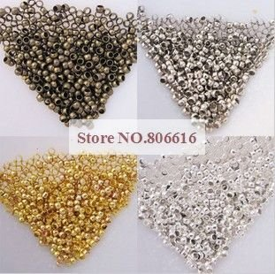 2.5MM 10000Pcs Crimp End Beads Jewelry Findings Components Jewelery Accessories