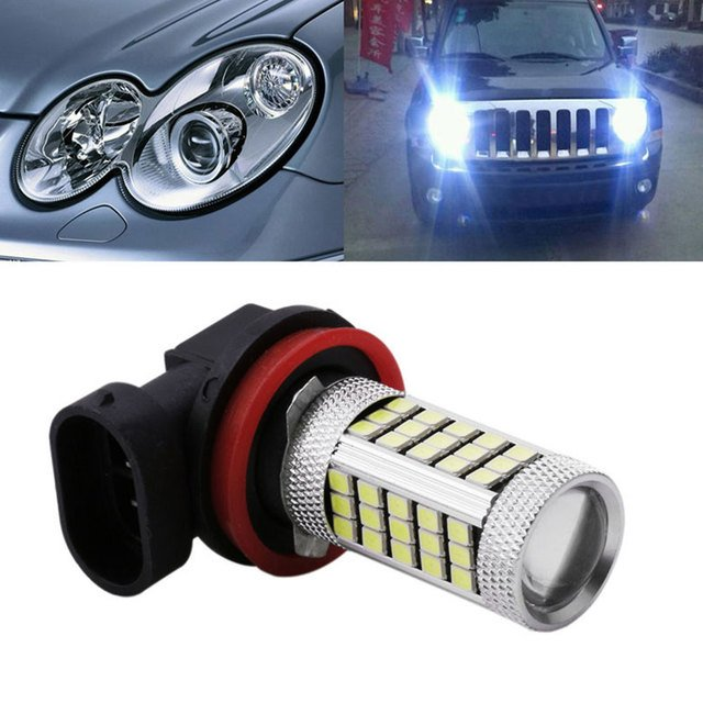H11 2835 63SMD LED Car Vehicle Fog Driving Light Bulb Lighting Lamp 100LM White