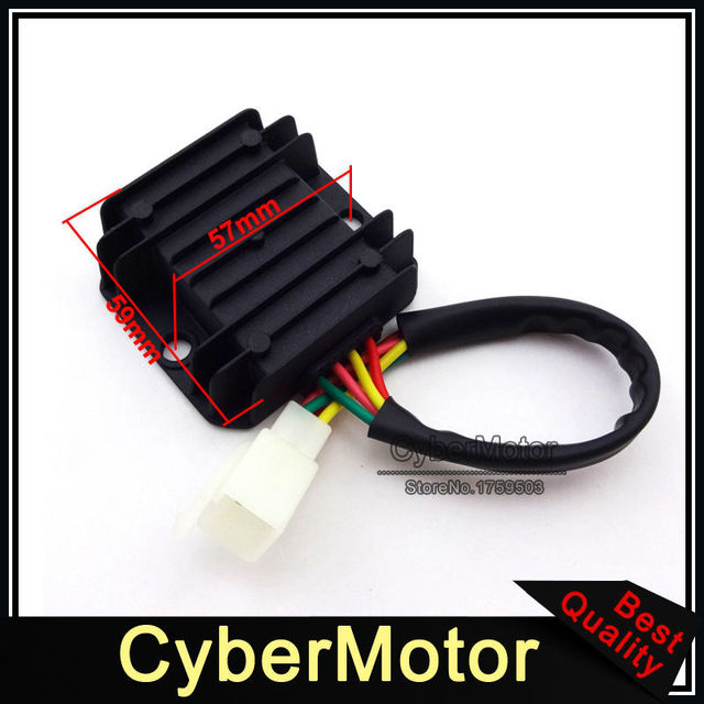 Motorcycle 4 Wire Male Plug Voltage Regulator Rectifier For ATV Quad 4 Wheeler GY6 Scooter Moped Dirt Pit Pro Trail Motor Bike