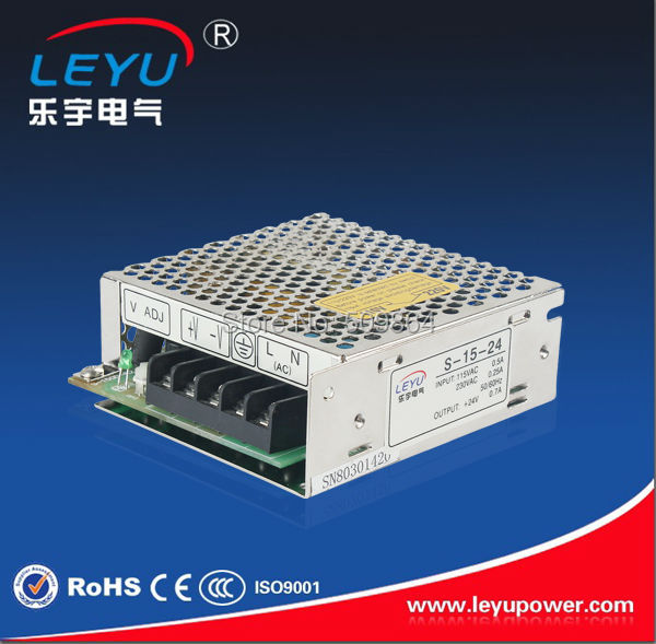 CE RoHS Single Output Switching Power Supply 15W  24V