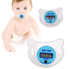 Soft Infant Baby Kid Nipple LCD Digital Mouth Pacifier Thermometer Children Health Safety Care FJ88