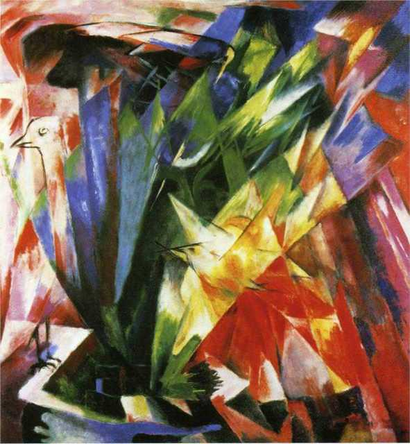 Birds by Franz Marc oil Painting Canvas High quality hand painted abstract art reproduction