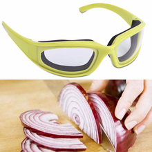 1Pc Kitchen Accessories Onion Goggles Barbecue Safety Glasses Eyes Protector Face Shields Cooking Tools Green Color
