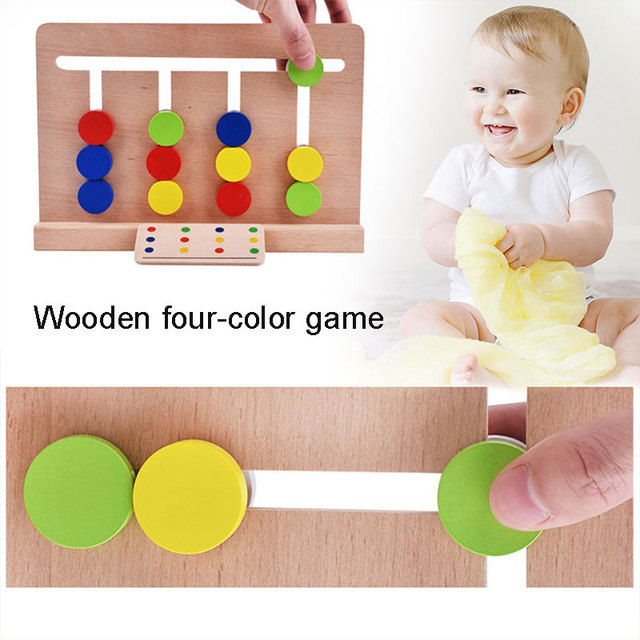 Wooden Puzzle Toys Practical Wooden Toys Multicolor Novelty 3d Puzzle toys Beginning Ability for Kids Wooden toys