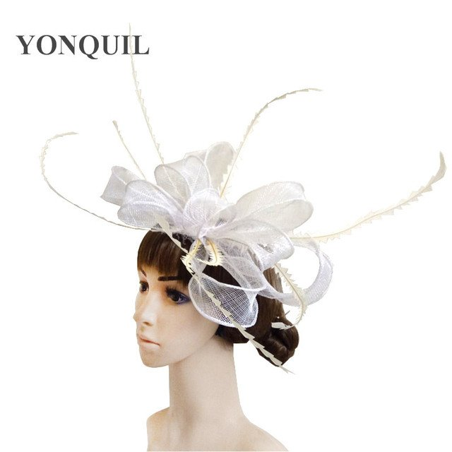 derby sinamay fascinator hats very nice bridal hair accessoires Free shipping retail and wholesale 15 color high quality MYQ35
