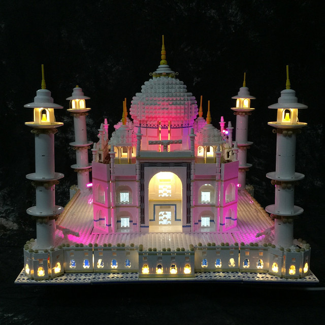 LED Light Kit (only light included) for lego 10189/10256 and 17001/17008 The taj mahal Model ( the blocks building not included)