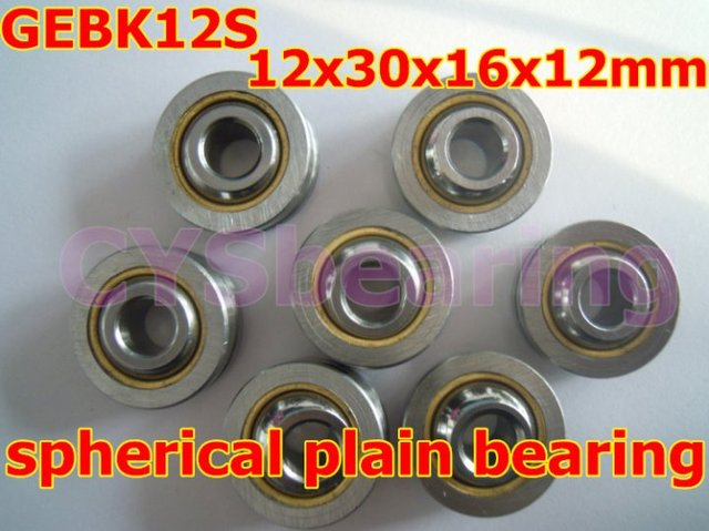GEBK12S PB-12 radial spherical plain bearing with self-lubrication for 12mm shaft