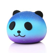 2018 Hot Cute Blue Panda Cream Scented Squishy Slow Rising Squeeze Kid Toy Phone Charm Gift
