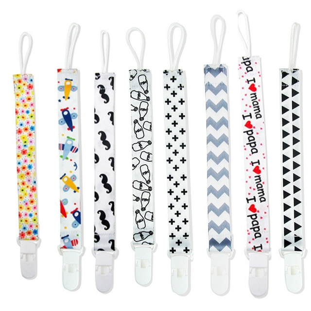 Baby Pacifier Clip Dummy Holder Soother Chain Drop-resistant Buckle Strap Chupeta Pacifier Clips