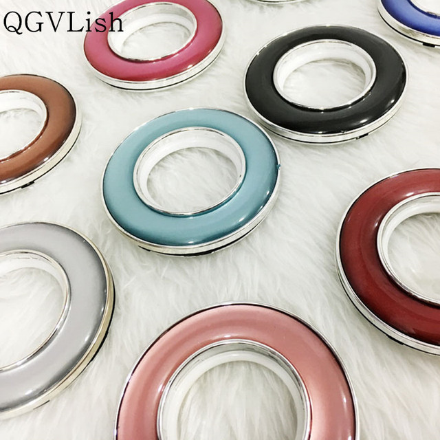 QGVLish 50Pcs Jade Curtian Ring Mute Roman Rings Curtain Accessories Punch Circle Silencer Curtain Rods Ring Top Eyelets Buckle