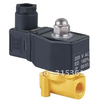 """Free Shipping 5PCS DIN Coil Brass Water Oil Pneumatic Solenoid Valve, 2 way, 3/8"""" AC110V"""