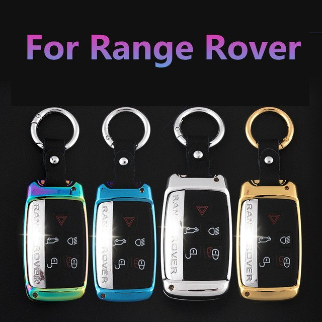 Zinc alloy Leather Car Key Case Covers Bag For Land Rover RANGE ROVER SPORT Evoque Freelander 2 DISCOVERY 4 for Jaguar XF XJ XK