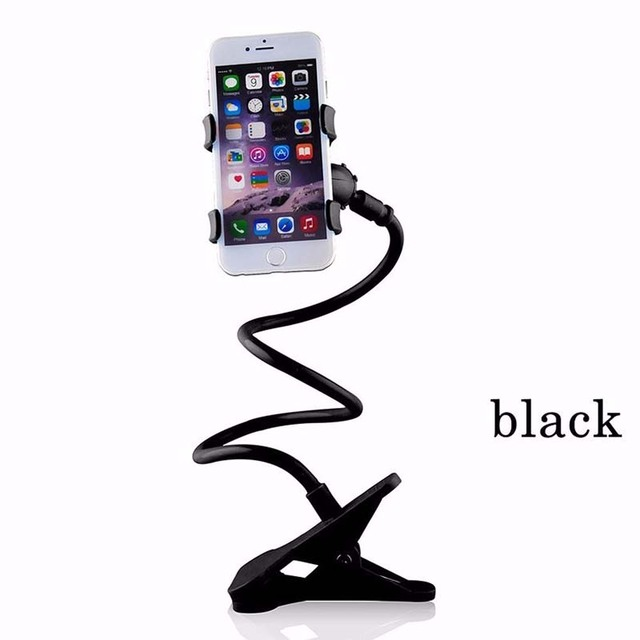 high quality Universal Lazy Mobile Phone Tablet Mount Stand Holder 360 Rotating Clip On Desktop Bracket Long Arm Bed For iphone7