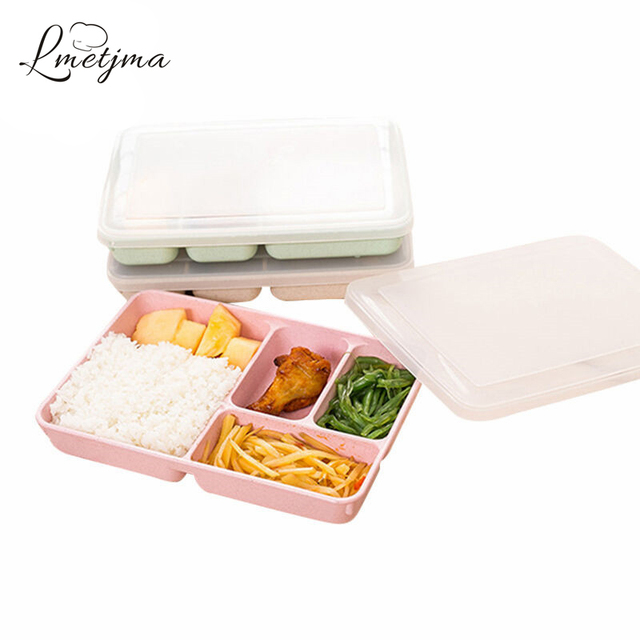 LMETJMA New 4 plus 1 Lunch Boxs Microwave Lunchbox For Adults Lunch Boxs Thermal Food Storage Container Lunchbox KCBII012006