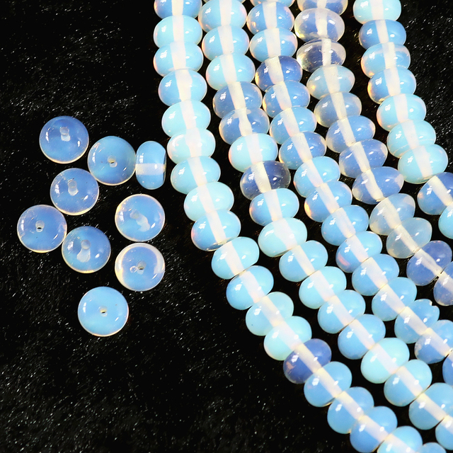 Hot sale Opal crystal stone fashion stone 5*8mm abacus loose beads diy noble Jewelry making B266